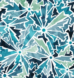 cold color cracks seamless pattern vector image