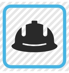 Construction helmet icon in a frame vector