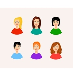 different hairstyles Smiling vector image vector image