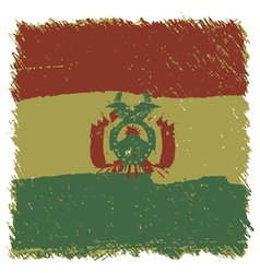 Flag of Bolivia handmade square shape vector image vector image