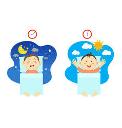 Get up early and have healthy sleep vector