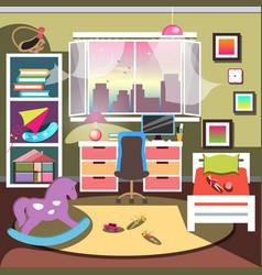 girls bedroom interior vector image