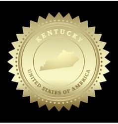 Gold star label kentucky vector