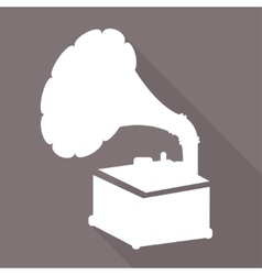 Gramophoneold retro record player icon vector