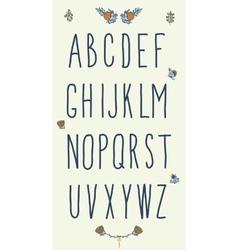 Hand drawn sketch alphabet Handwritten font vector image vector image