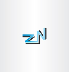 letter z and n logo blue vector image vector image