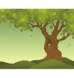 Lonely tree background vector