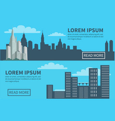 Modern city silhouette skyscrapers and buildings vector