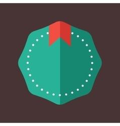 Modern flat design badge icon vector image vector image