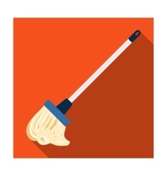 Mop icon in flat style isolated on white vector