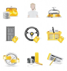 nine banking icon set vector image vector image