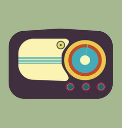 Old radio realistic of an old radio vector