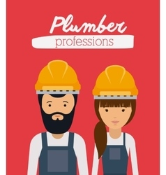 plumber profession design vector image