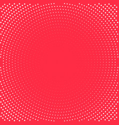 pop art background white dots on red background vector image vector image