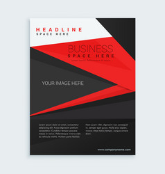 red and black business brochure template vector image vector image