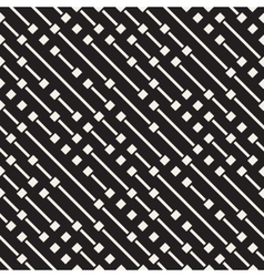 Seamless Black And White Diagonal Dash vector image