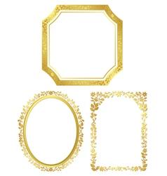 set of various golden frames vector image vector image