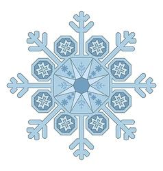 Single Snowflake vector image