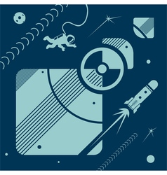 Space set vector image