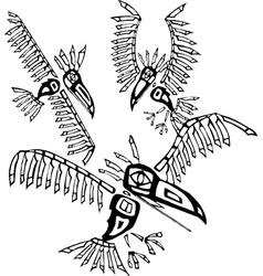 Three ravens vector