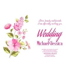 Wedding invitation Flower background vector image