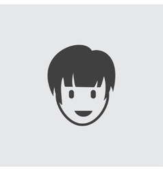 Girl hairstyle icon vector