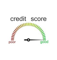 Credit score gauge credit request vector