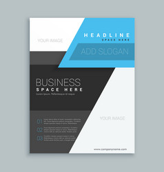 Modern geometric shape business brochure template vector