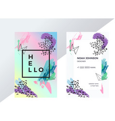 Double-sided business card template vector