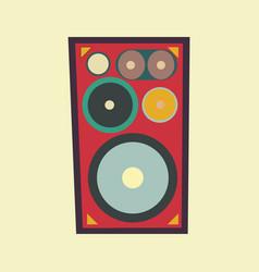 Speaker retro style vector