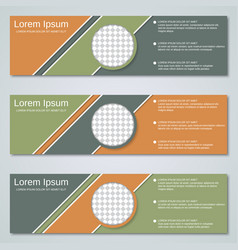 Abstract geometric banners design templates vector