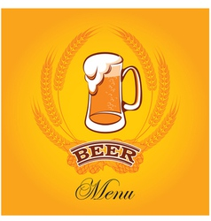 Beer menu mug vector