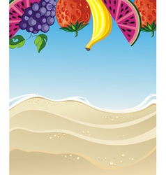 Summer with fruits vector