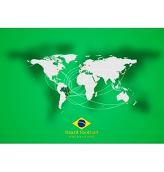 Concept air traffic design Brazilian colors vector image