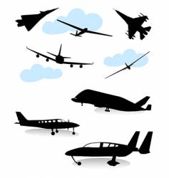 airplane set vector image