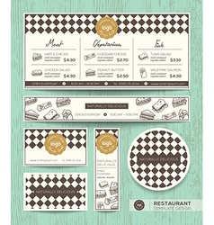 Restaurant cafe sandwich menu design template vector