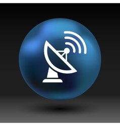 Radar icon satellite dish tv technology vector