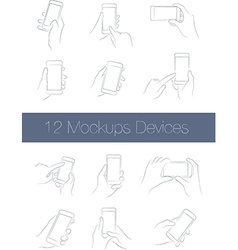 Set of simple mockups mobile devices vector