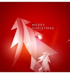 Christmas tree red shiny abstract background vector
