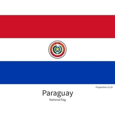 National flag of paraguay with correct proportions vector