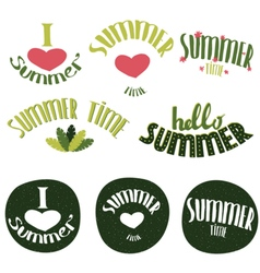 Set of summer lettering vector