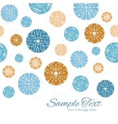 Abstract blue brown vintage circles back vector