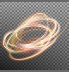 abstract glowing ring on transparent backfround vector image vector image