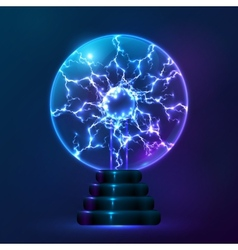 Blue plasma ball lamp vector