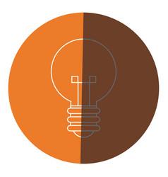 Bulb creative idea innovation icon circle vector