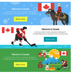 Canada template for web banner or poster vector