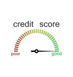 Credit score gauge credit request vector