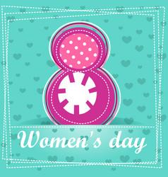 Cute cartoon greeting card happy women s day vector