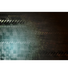 Dark hi-tech grunge background vector