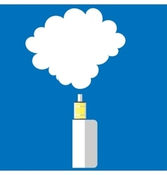 electronic cigarette color background vector image vector image